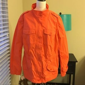 Talbots Orange Lightweight Jacket
